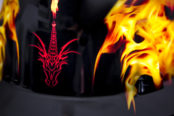 Chasing the dragon helmet