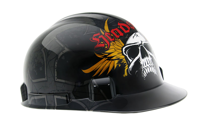 Safety hardhat – skullwings