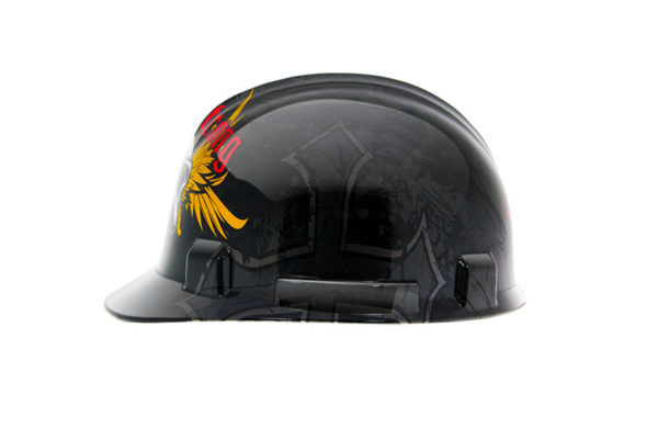 Safety hardhat - skullwings2